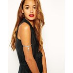 ASOS Crystal Arm Cuff - Clear
