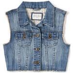 FOREVER21 girls Edgy Girl Cropped Denim Vest (Kids)