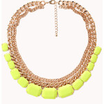 FOREVER21 Bright Thing Faux Stone Necklace