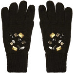 Topshop Embellished Knitted Gloves