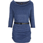 RAINBOW Longshirt in Strickoptik 3/4 Arm in blau für Damen von bonprix