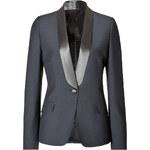 Maison Martin Margiela Wool-Mohair Tuxedo Blazer with Satin Lapel