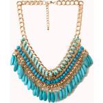 Forever 21 Globetrotter Beaded Bib Necklace