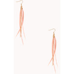 Forever 21 Daring Feather Drop Earrings