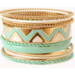Forever 21 Zigzag Bangle Set