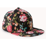 Forever 21 Garden Floral Fitted Hat