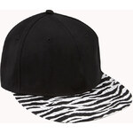 Forever 21 Wild Zebra Fitted Hat