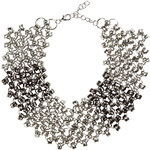 RUBIES AND ROCKS Statement-Kette SILVER COLLIER grau