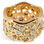 Aurélie Bidermann Fine Jewelry Gold Lace Diamond Ring