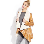 FOREVER21 Southbound Faux Shearling Jacket