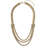 Topshop Mesh And Snake Chain Necklace