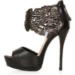 Topshop **Orbit Embossed Cuff Platform Shoes by CJG