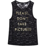 """Tally Weijl Black Lace """"Pictures"""" Sleeveless Top"""