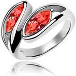 I-Moda Prsten s krystaly Swarovski červená