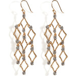 Alexis Bittar Crystal Studs Chandelier Earrings