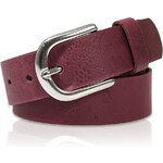 s.Oliver Leather belt with floral embossing