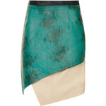 Topshop **LIMITED EDITION Contrast Leather Wrap Skirt