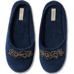 Intimissimi Chenille Slippers with Rhinestone Detail