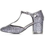 Topshop JOYFUL Glitter T-Bar Mid Heels