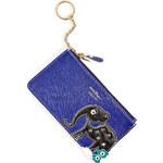 Salvatore Ferragamo Leather Key Case with Elephant Applique