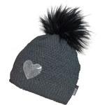 CAPU Dívčí zimní čepice Grey 622-B