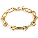 Aurélie Bidermann Fine Jewelry Yellow Gold Hammered Chain Bracelet