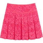 DKNY Pleated Lace Skirt