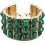 House of Harlow SUGARLOAF BARS Armband gold/green