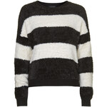Topshop Striped Fluffy Sweater