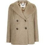 Topshop **Fluffy Hooded Pea Coat