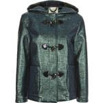 Topshop **Metallic Hooded Duffle Coat