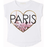 FOREVER21 girls Parisian Heart Tee (Kids)