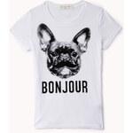 FOREVER21 girls Bonjour Bulldog Tee (Kids)
