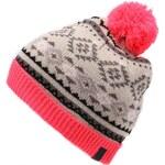 Krémová vzorovaná čepice s růžovými detaily ONLY Jessie