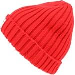 Červená žebrovaná čepice HYMN Ralph