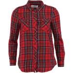 Červená kostkovaná košile Vero Moda Channet