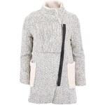 Krémový kabát s asymetrickým zapínáním Glamorous
