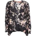 Černé květované kimono Glamorous