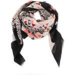 Černo-krémový šátek s barevnými vzory Vero Moda Milan