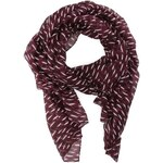 Vínový vzorovaný šátek Vero Moda Bina