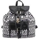 Bílo-černý batoh s aztéckým motivem Anna Smith
