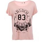 Růžové tričko s nápisem ONLY Roses