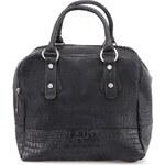 Černá kabelka s krokodýlím vzorem Pieces Makda
