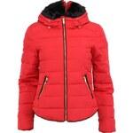 Červená prošívaná péřová bunda Vero Moda Short