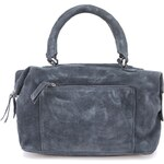 Modrošedá kožená kabelka Pieces Meliora