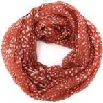 Červeno-krémový strakatý šátek Vero Moda Henny