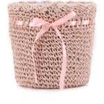 Růžová pletená dekorace na květináč Dakls