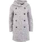 Světle šedý kabát s kapucí Vero Moda Swella