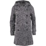 Tmavě šedý kabát s kapucí Vero Moda Swella