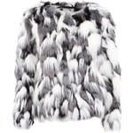 Černo-bílý kabátek s umělým kožíškem Vero Moda Wing